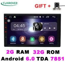 2017 verkauf 2 Doppel-din Universal Autoradio Dvd-Player Stereo 2g + 32g 7 Zoll Android 6.0 Autoradio Gps Navigation Quad-core Bt Fm