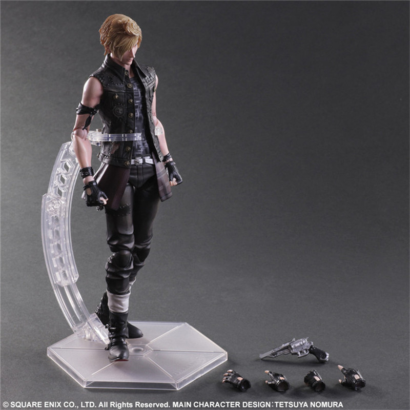 PLAY ARTS 25cm <font><b>Final</b></font> <font><b>Fantasy</b></font> <font><b>XV</b></font> Prompto Argentum PVC Action <font><b>Figure</b></font> Collection Model Toys For Gift image