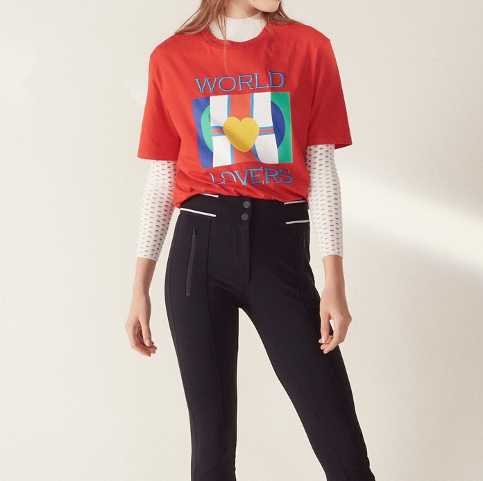 And Spring Tee shirts Love Summer 2019 T New Casual Letter Heart Women Print Embroidery FZBqxS5gn