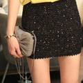 Fashion Sexy Women Skirts Shiny Glitter Sequins Bodycon Party Short Mini Skirt 3 Colors