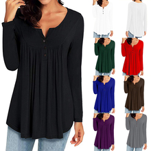 Women Blouse & shirt Plus Size S-3XL Female Long Sleeve Blouse Chic Elegant Lady Solid Loose Tops Black Gray Purple Red Blusas chic black polo collar long sleeve blouse for women