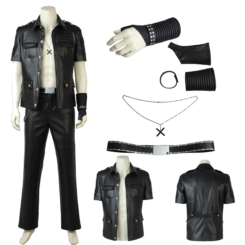 NEW ARRIVAL Final Fantasy XV Gladiolus Amicitia Cosplay Costume Leather Customized Suit Halloween Costumes