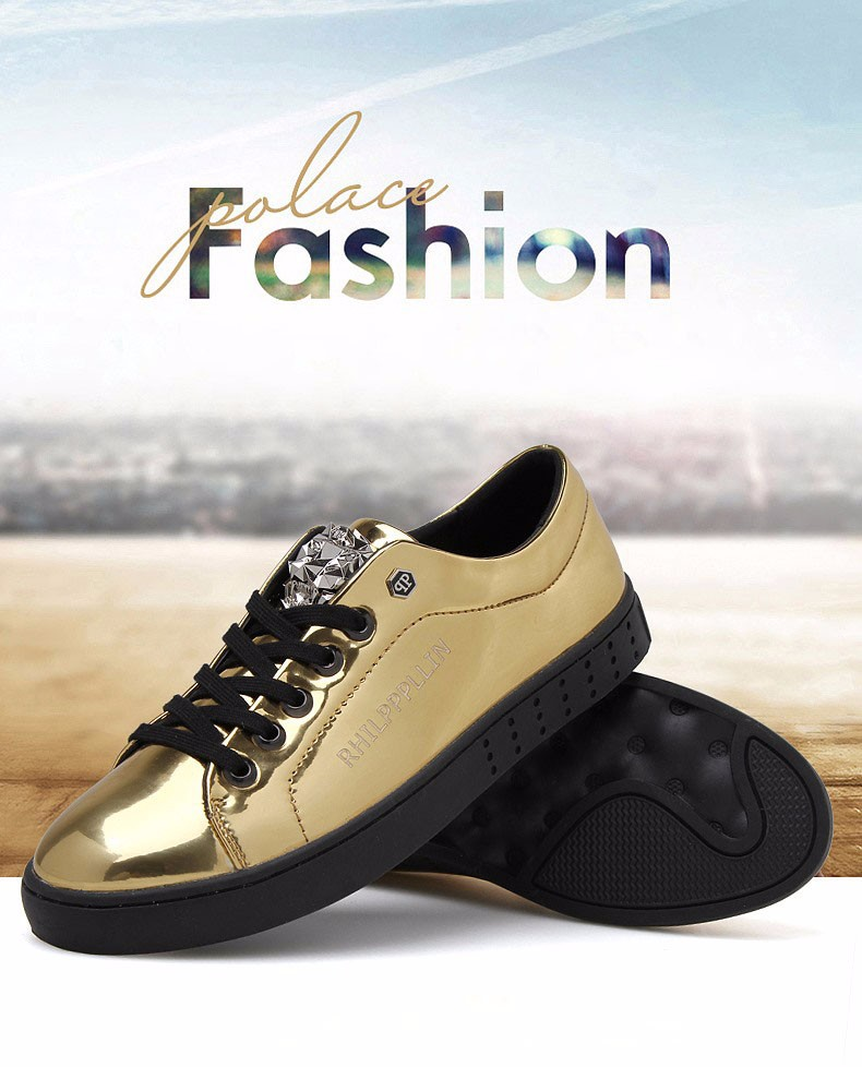 KUYUPP 2016 High Quality PU Patent Leather Men Flats Shoes Leopard Head Sequined Skate Shoes Round Toe Lace Up Men Flat Heel Y31 (2)