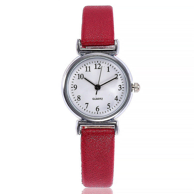 Fashion Women Watches Simple Style Ladies Multicolor Slim Leather Strap Watch Women Casual Dress Quartz Wristwatch Female Gift#c