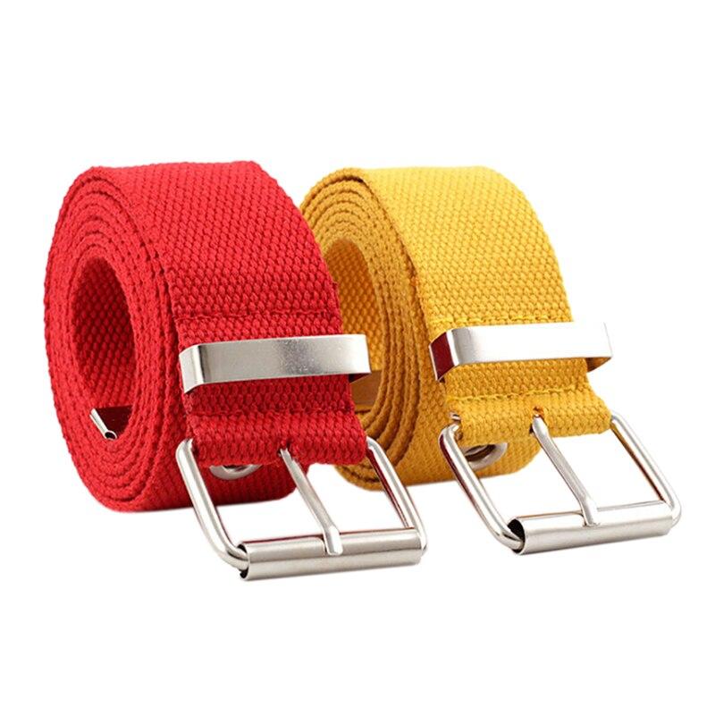 SAFENH New Fashion Belt Canvas Women's Harajuku Waistband Metal Buckle Eyelet Belt Waist Black White Red 3.8cm Wide