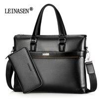 2017 New Famous Brand Fashion Genuine Leather Men Bag Shoulder Bag Messenger Bags Causal Handbag Laptop