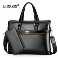 2017 New Famous Brand Fashion Genuine Leather Men Bag Shoulder Bag Messenger Bags Causal Handbag Laptop