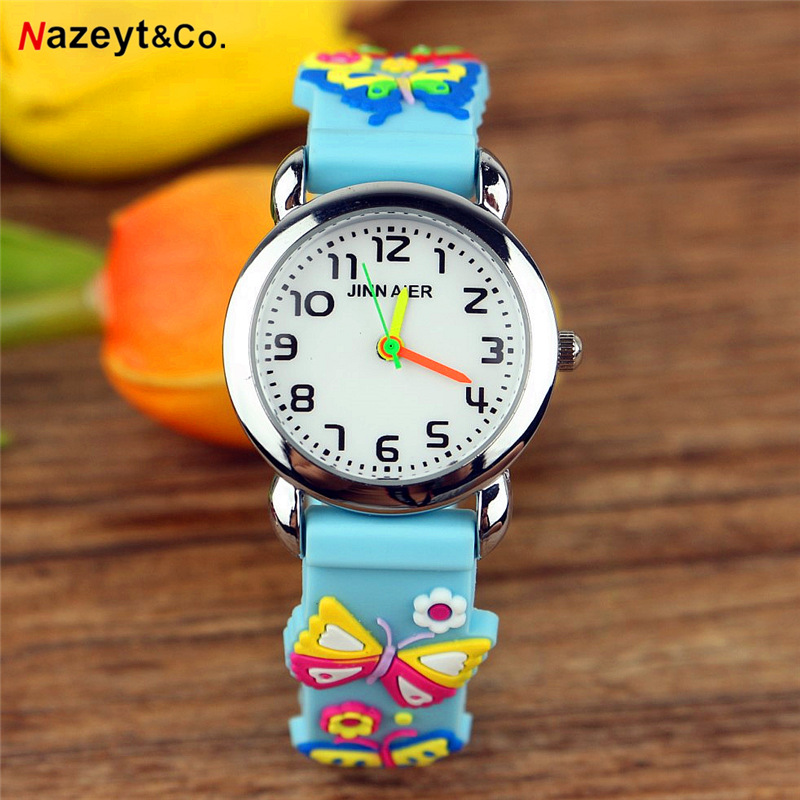 Promotion Kids Watch High Quality Children 3D Simple Design Silicone Strap Sports Watch Boys And Girls Birthday Gift Watch