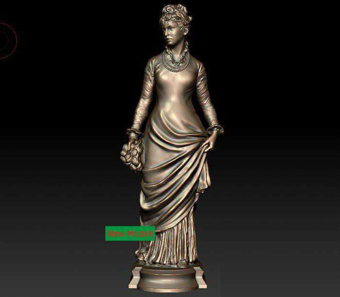 3D model for cnc 3D  CNC machine in STL file format Paris women model relief for cnc in stl file format 3d panno bird 1