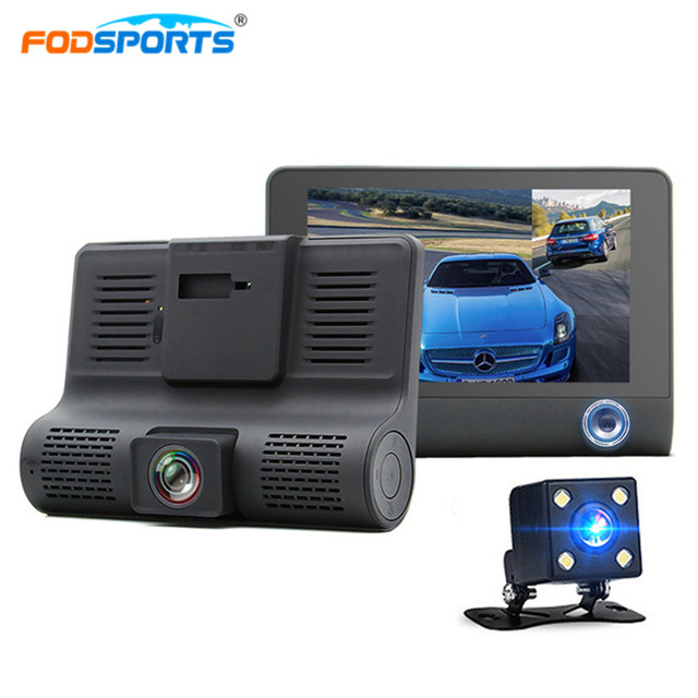 Fodsports 4.0 Inch Car DVR 1080P HD 170 Degree Wide Angle Dual Lens Video Recorder Dash Cam With G-sensor Rearview Camera