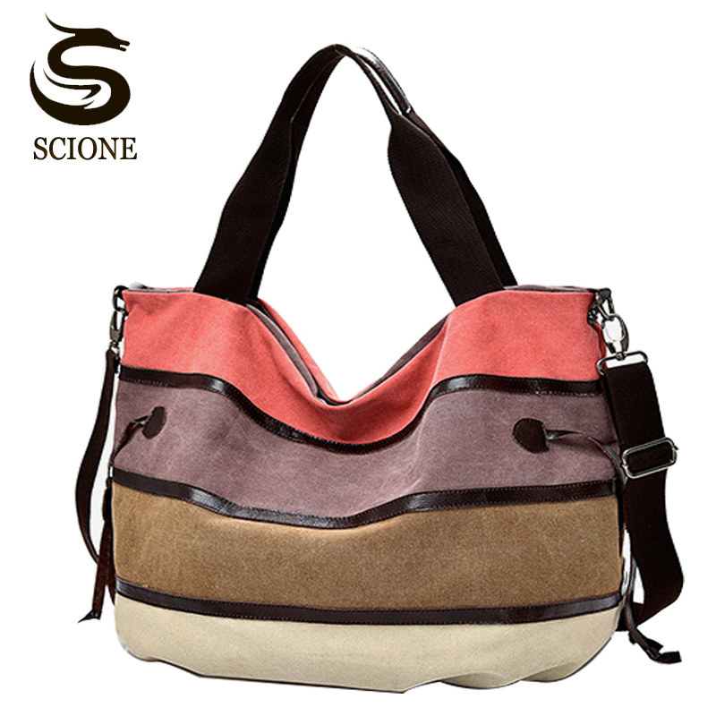 Women Shoulder Bags Canvas Messenger Bags Handbags Casual Large Capacity Beach Tote Fashion Female Shopping Bag with Zipper цена