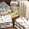 Floral Linen Cloth Sofa Linen Cloth Curtain Color Linen Fabric Printing Pastoral Handmade DIY Tablecloth