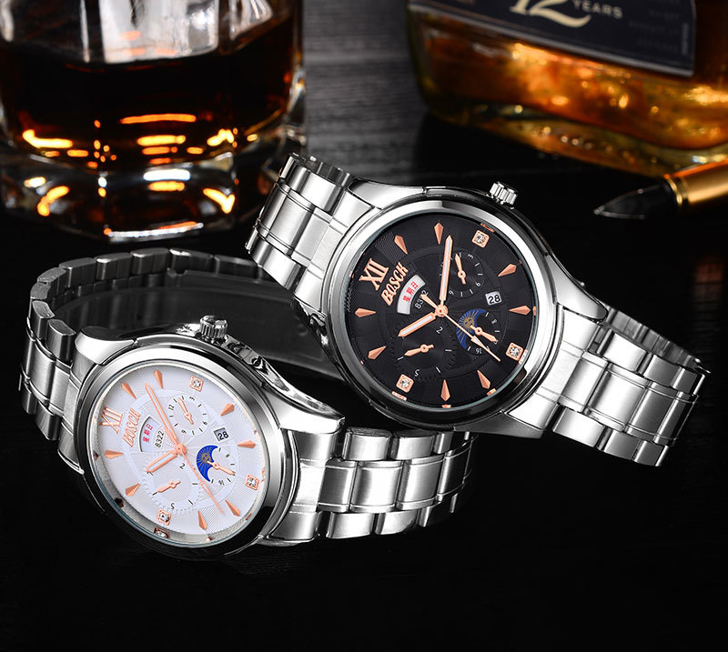 FOTINA Luxury Brand BOSCK Watch Man Automatic Skeleton Mechanical Watches Men Transparent Relogio Masculino Automatic Watch Men automatic self wind skeleton watch hollow out dial mechanical watches man leather relogio masculino rome exquisite carved watch