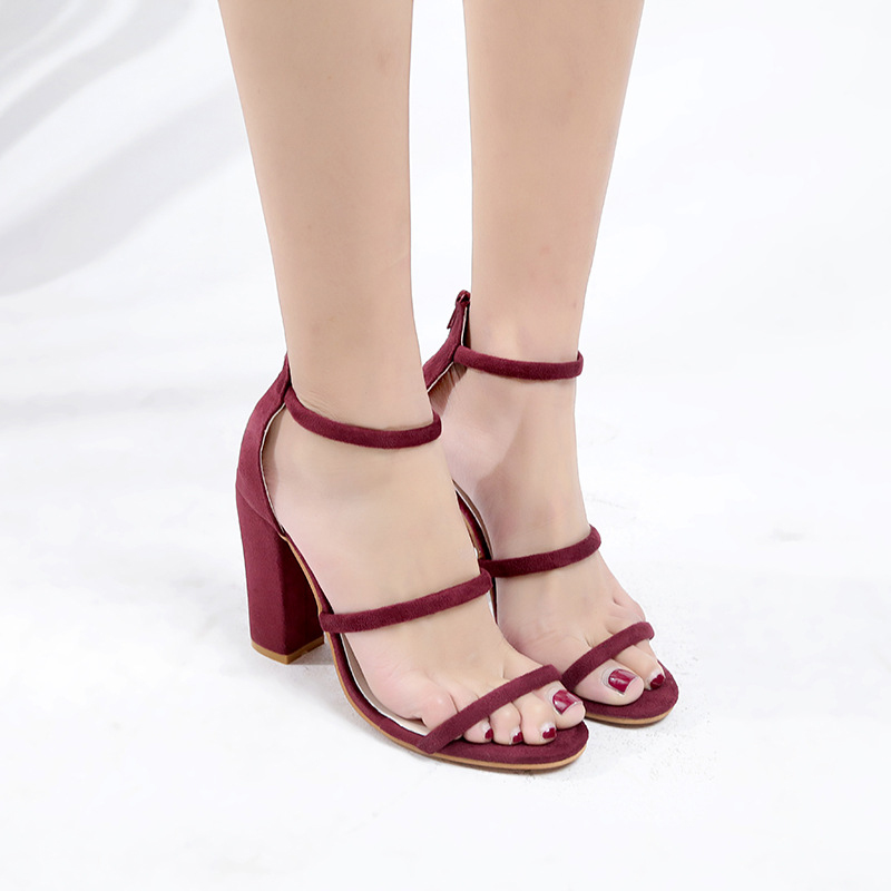 21c2f21b32fc6 ... Casual Gladiator Chunky Party Ankle Summer Wrap Flat Woman High Sandals  Fashion Dress Women Shoes Work ...