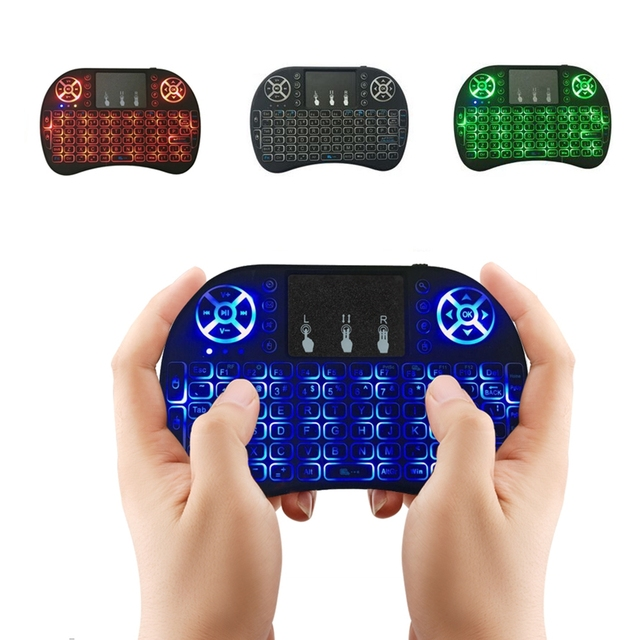 I8 English Version 2.4GHz Mini Wireless Keyboard Air Mouse Touchpad Blacklight Backlit for Android TV BOX Laptop PC