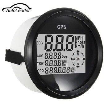 Autoleader 9-32V GPS Speedometer Waterproof Digital Odometer Gauge Black For Vehicle 300KM/H