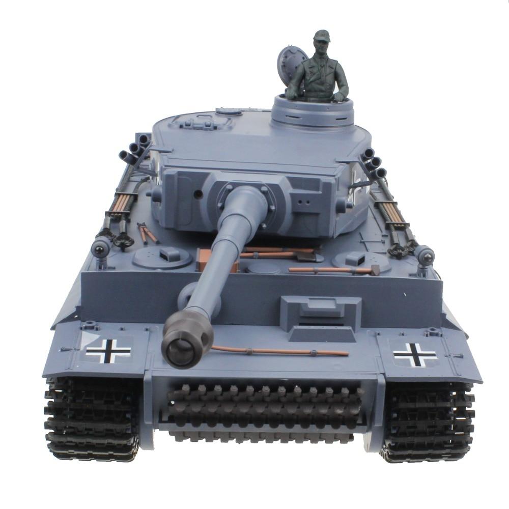 BB shooting /& Smoking /& Sounding by Big Boyz/® Heng Long Radio remote Control German Tiger Tank Silver Version