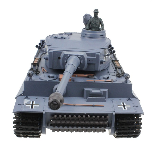 5cce4b43938d1 2.4G 1:16 Remote Control Germany Tiger Tank AirSoft BB Shooting Smoking  Sounding Effect