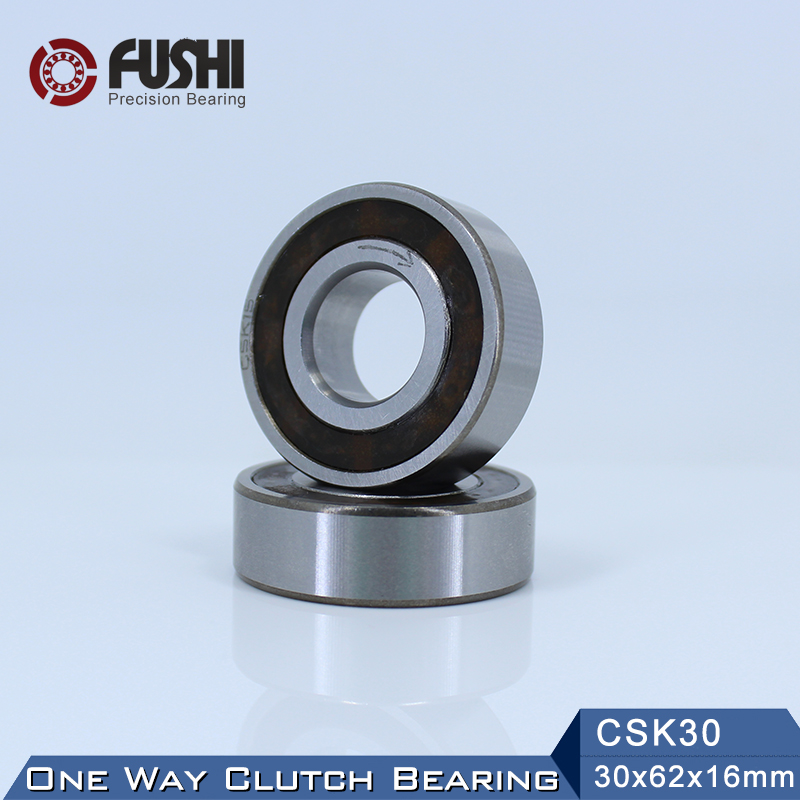 CSK30 One Way Bearing Clutches 30*62*16mm ( 1 PC) Without Keyway CKK30 CSK6206 FreeWheel Clutch Bearings CSK206 nobrand 30 154 62 0