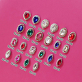Free Shipping Quality Promise 22 kinds 100pcs/bag Nail Jewelry Crystal Metal Water Drop/Round/Horse Eye Stone Charms Nail Art
