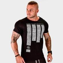 font b Mens b font Summer 2018 fitness Bodybuilding cotton t shirt gyms font b