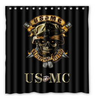 Custom US MC Waterproof Polyester Fabric Shower Curtain Bathroom Home Decro Size 150x180cm Freed Shipping 48