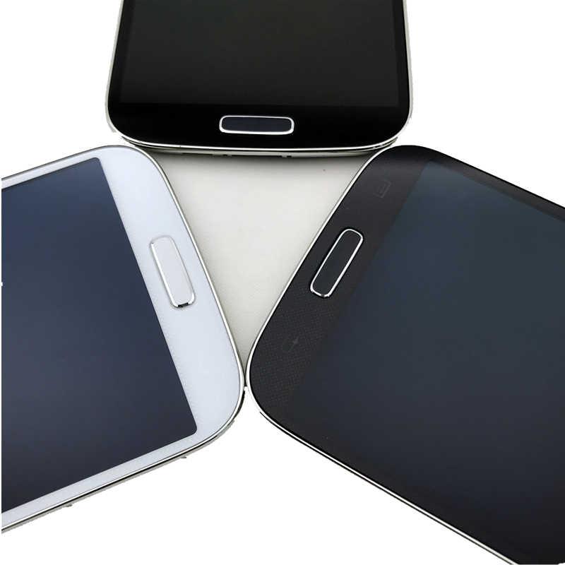 مع الإطار شاشات Lcd لسامسونج غالاكسي SIV S4 i9506 سوبر AMOLED شاشة هاتف LCD مجموعة المحولات الرقمية لشاشة تعمل بلمس استبدال
