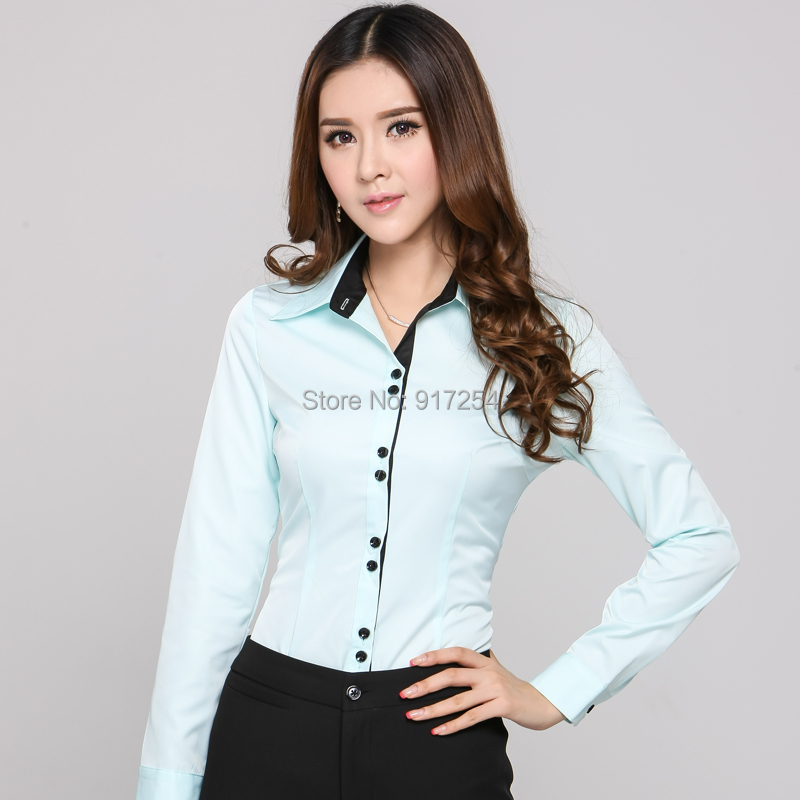 new 2014 femininas office work wear blusas womens blouses