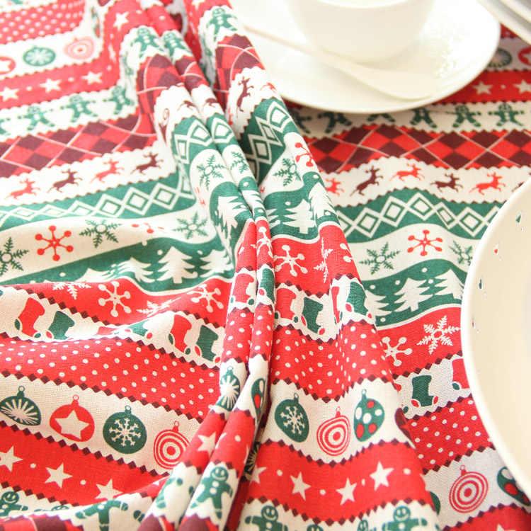 カスタムメイドの高級クリスマスコットンリネンクリスマステーブルランナーサテンテーブルクロス赤テーブルクロスプレイスマットクリスマステーブルマット布カバー