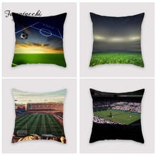 Fuwatacchi Sport Match Style Cushion Cover World Cup Badminton Printed Pillow Soccer Decorative Pillows For Sofa Car