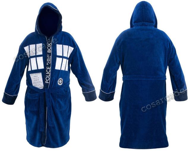 Doctor Who Tardis Hooded Bathrobe