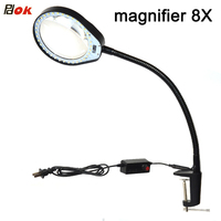Hands Free Loupe Flexible Magnifying Glass With Light Versatile 2 In 1 Lighted Magnifier Desk Lamp