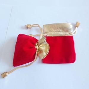 Image 2 - 200 ピースプノンペンゴールドビーズベルベットバッグジュエリーポーチギフトバッグ結婚式の巾着バッグ女性ジュエリーディスプレイギフト包装バッグ