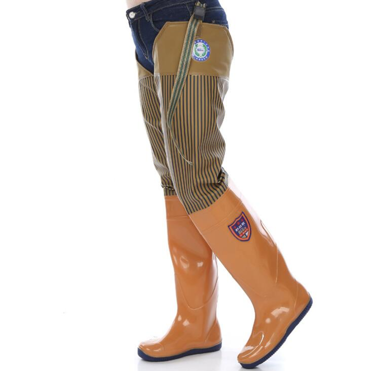 Over-the-Knee Waterproof Rain Boots Non-Slip Hard-Wearing Soft Sole Fishing Boots Rain Shoes