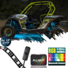 X LIGHT ATV UTV LED Lighting Kit Body Underbody Light Neon 4 Strips 18 Color Bluetooth