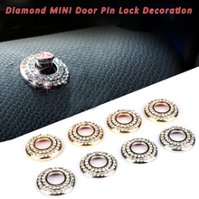 2PCS Door Lock Pin Diamond Ring Decoration for Mini Cooper S One JCW Countryman R53 R55 R56 R57 R58 R59 R60 R61 F56 F57 F60