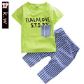 KW Brand 2017 New Toddler Boys Clothing Children Summer Boys Clothes Cartoon Kids Boy Clothing Set T-shit+Pants 100% Cotton