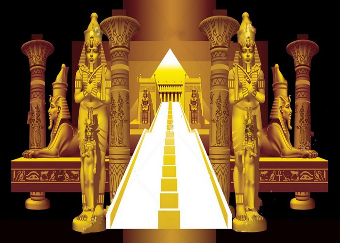 Architectural column egyptian party themed decorations black backdrop Vinyl cloth Computer print wall Background architectural grotesque