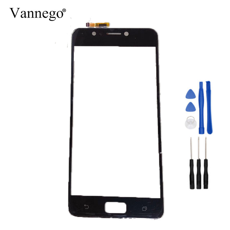 Vannego Touch Panel For For Asus Zenfone 4 Max ZC520KL Touch Screen Digitizer Outer Front touch Glass Lens Sensor with tools