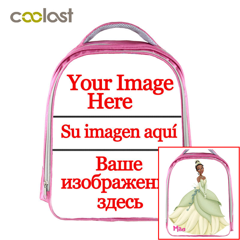 Customized Pink Children School Bags For Girls Print Your Image Photo On Backpack Teens Book Bags Kindergarten Backpacks