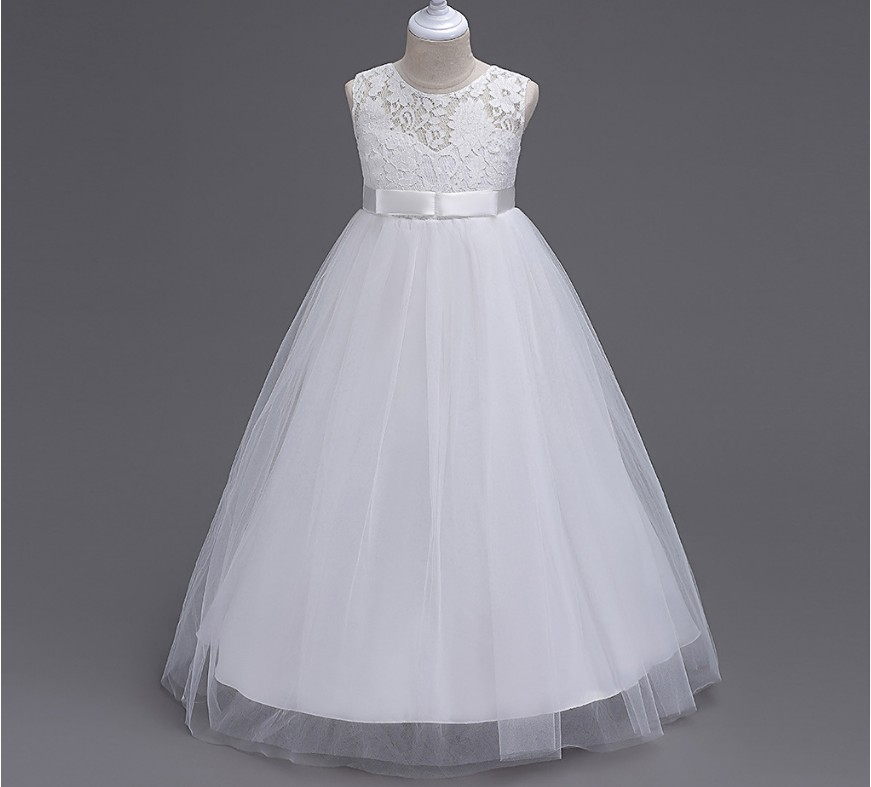 Special Offer~Pretty Bowknot Decorated Long   Flower     Girl     Dress  /Children's   Dress  /Princess Performance   Dress   104