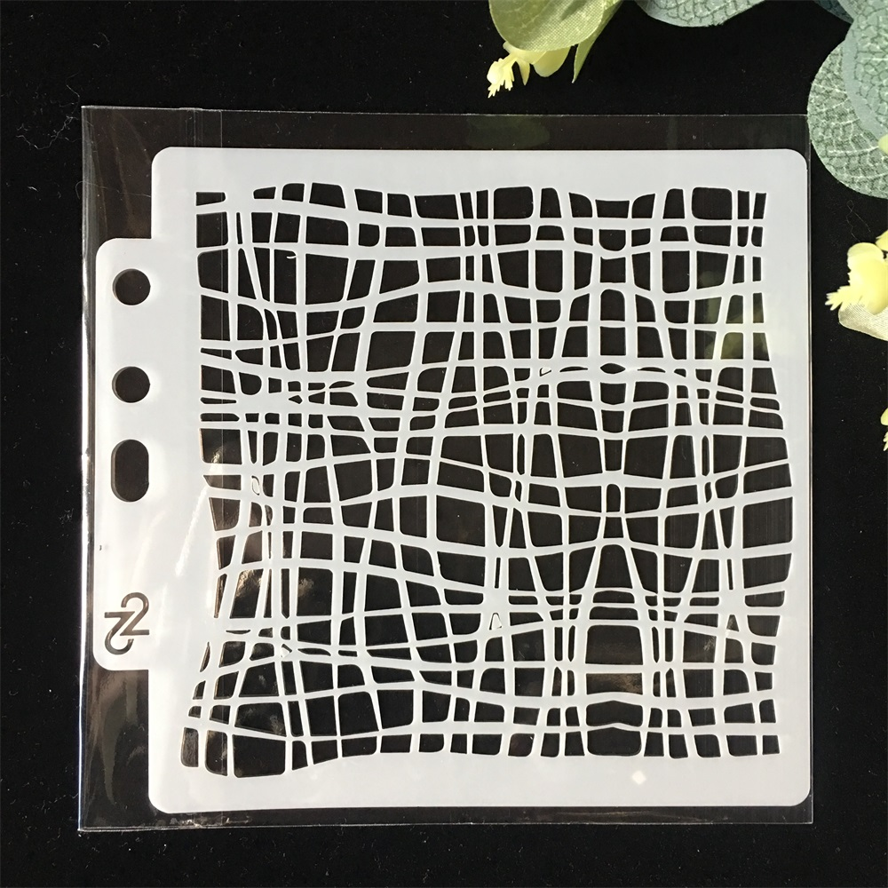 5inch Mesh Net Design DIY Layering Stencils Painting Scrapbook Coloring Embossing Album Decorative Paper Card Template