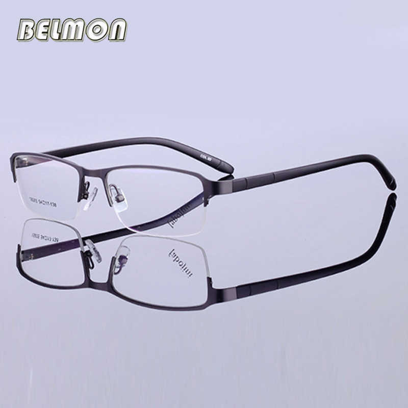 a1033985feb Belmon Optical Spectacle Frame Men Eyeglasses Korean Computer Prescription  For Male Eyewear Clear Lens Eye Glasses