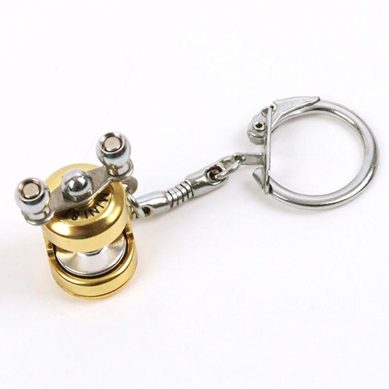 Keyring Key Ring Fishing Ring Men Fashion Mini Keys Keychain Key Chain Fly Reel Decoration Trolling Travel Accessories Fish Tool