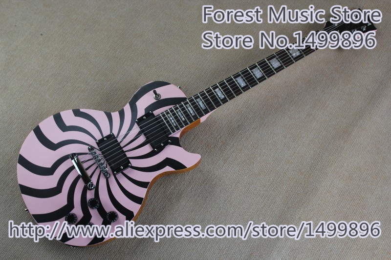 Hot Selling Zakk Wylde LP Electric Guitar Chrome Hardware China Guitarra For Sale high quality lp electric guitar aged james hetfield signature lp guitarra iron cross model in stock for sale