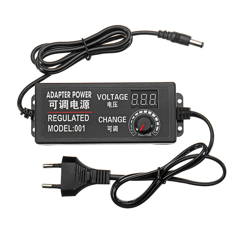 New 9-<font><b>24V</b></font> 3A 72W AC/DC <font><b>Adapter</b></font> Switching Power Supply Regulated Power <font><b>Adapter</b></font> Display EU Plug High Quality image