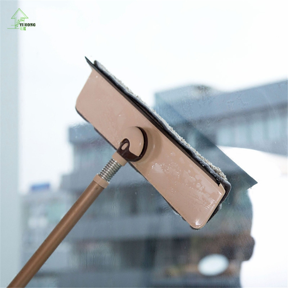 YI HONG Telescopic Handle Window Cleaners Cleaning Brush for Washing Windows Brush Glass Wiper Multifunction Home Tools