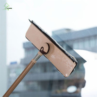 YI HONG Telescopic Handle Window Cleaners Cleaning Brush For Washing Windows Brush Glass Wiper Multifunction Home