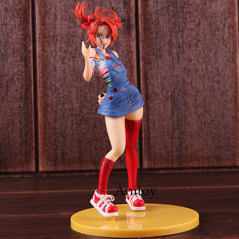 Figurine Horror Bishoujo Statue Bride of Chucky Doll Toys PVC Action Figures Collectible Model ToyFigurine Horror Bishoujo Statue Bride of Chucky Doll Toys PVC Action Figures Collectible Model Toy