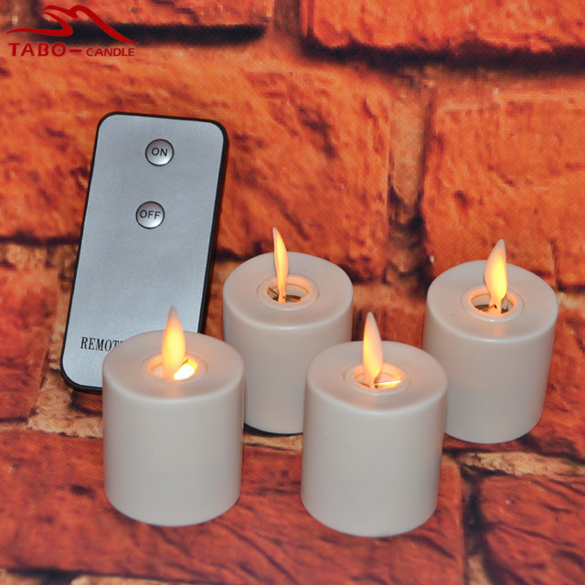 LED Rechargeable Flameless Tea Light Candles Light 4pcs/Set For Bedroom  Home Hotel Decor By
